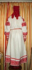 Рубаха вид сзади.  Мастерица  Екатерина Блинникова г. Владивосток.