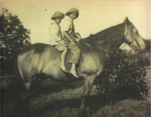 Brothers on horse, 1920s