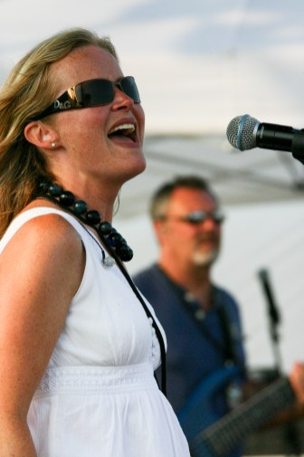 Kristi sings during Beachfest