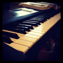 One of Russell's keyboards