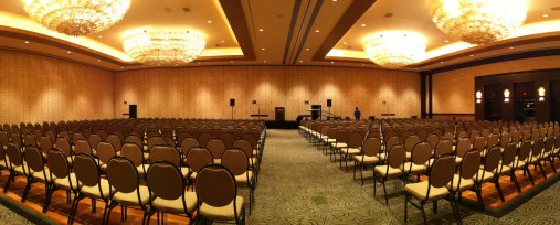Sound check complete for the Sunday morning Worship service here at the Sheraton in Houston.
