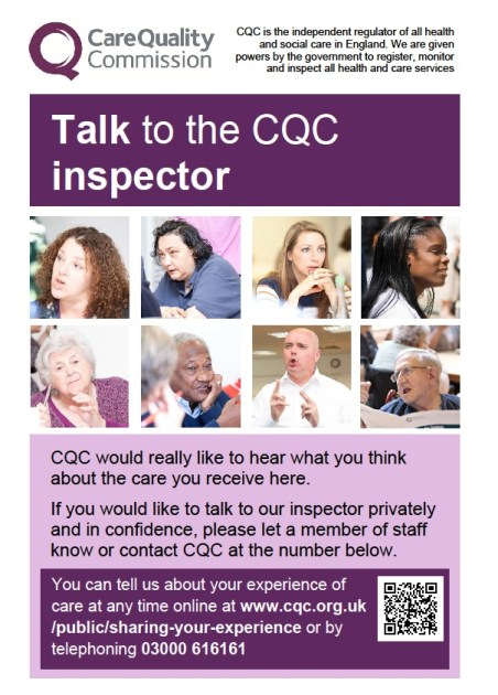 Talk to the CQC Inspector