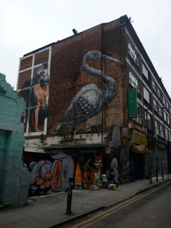 Crane on a huge building
