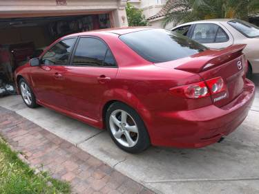 Red Mazda 6 Drivers Side