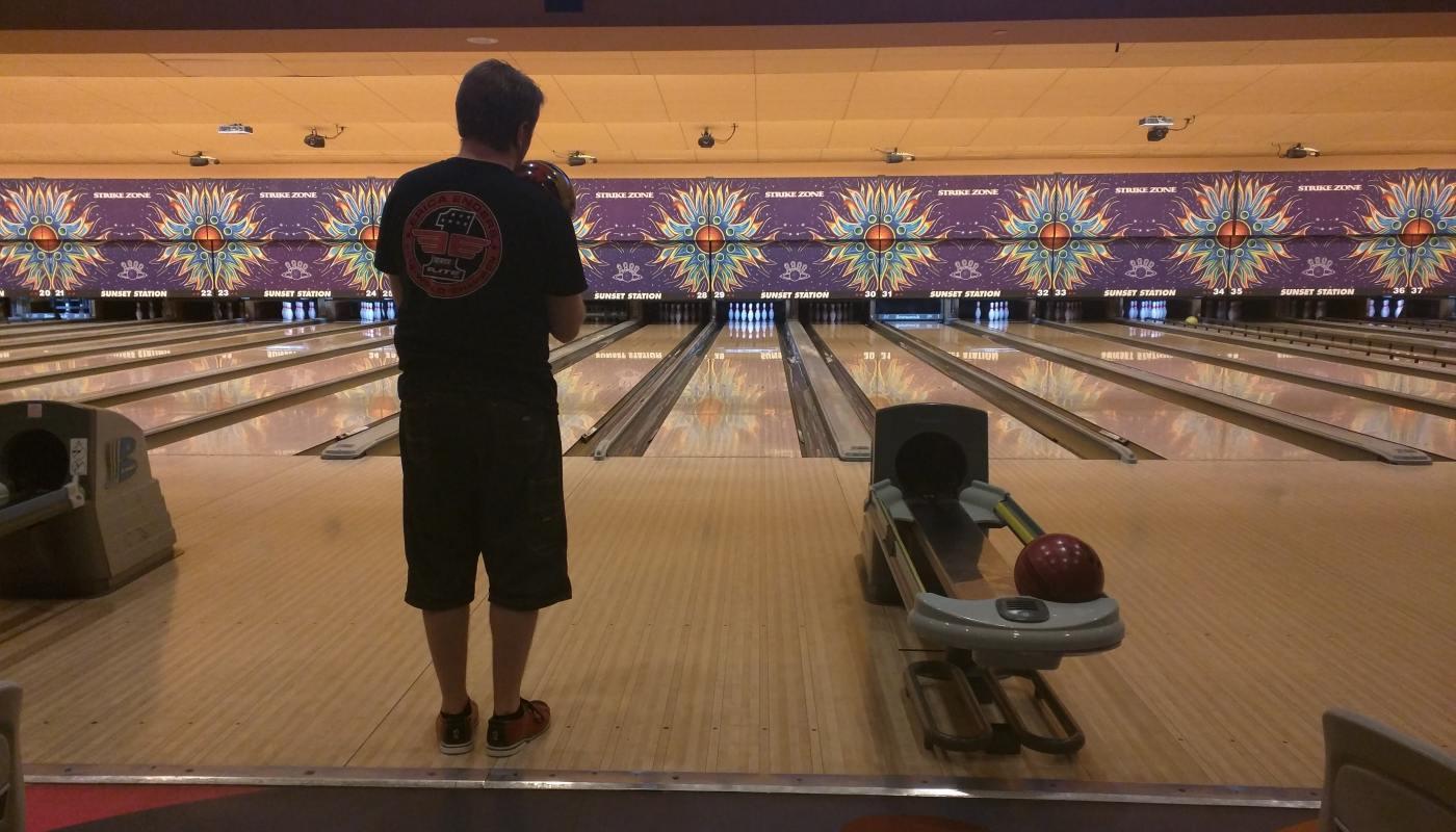Bowling makes me happy