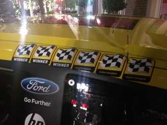 Joey Logano Sprint Cup Series Car- Winners Stickers