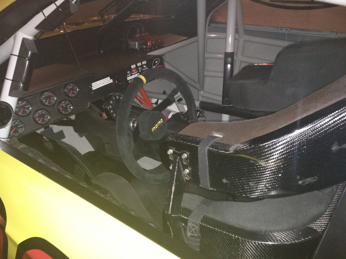 Kyle Busch Sprint Cup Series Car- Driver Cockpit
