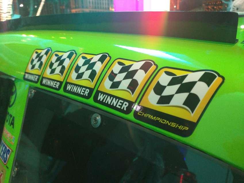 Kyle Busch Sprint Cup Series Car- Winner Stickers