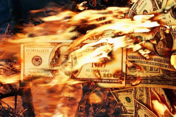 set money on fire