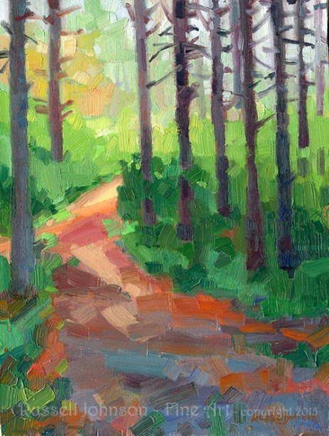 Landscape oil paintings by Russell Johnson