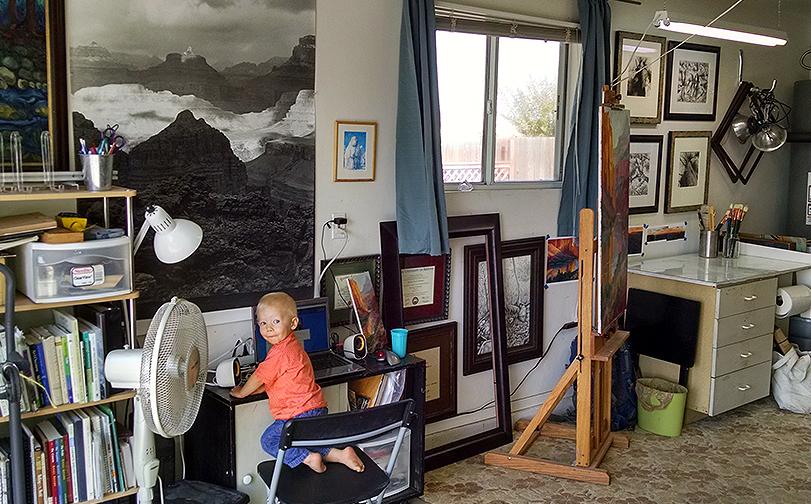 Russell Johnson studio