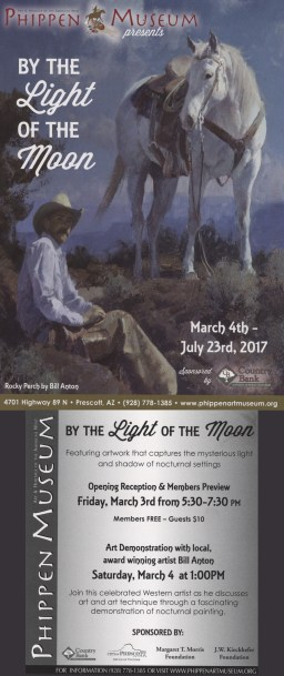 """By the Light of the Moon"" Exhibit at the Phippen Museum"