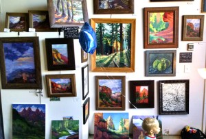 Russell Johnson studio art