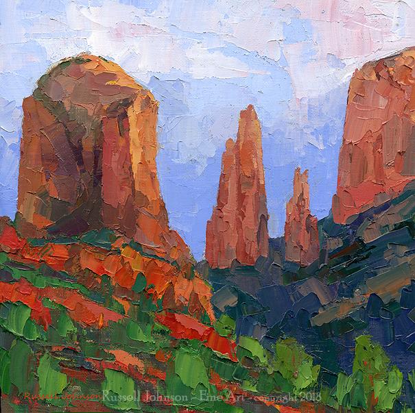 Russell Johnson sedona landscape artist