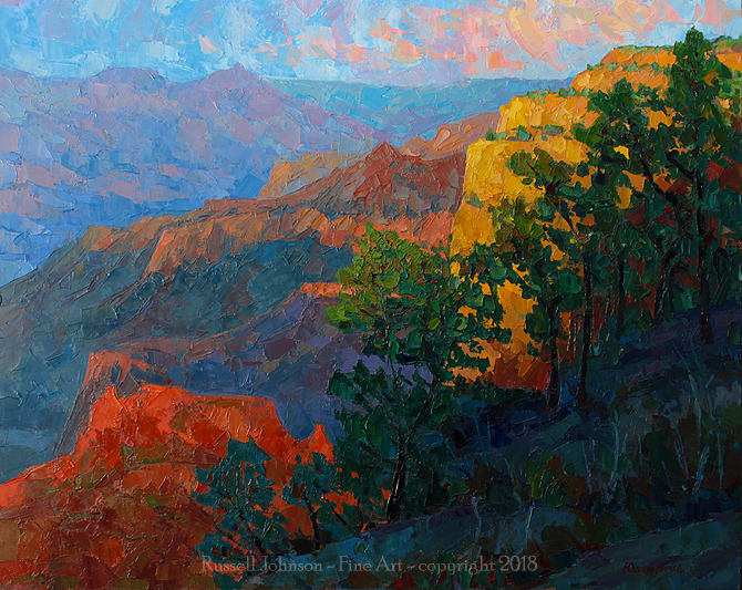 Russell Johnson Grand Canyon palette knife painter