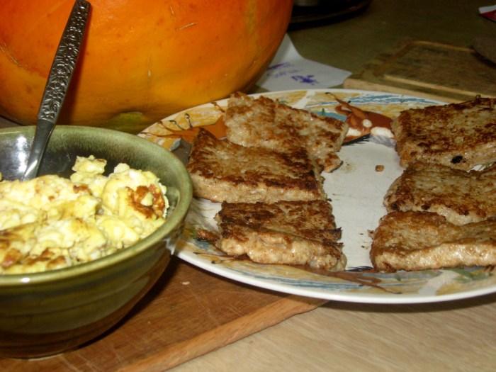 Fried Oatmeal and Eggs