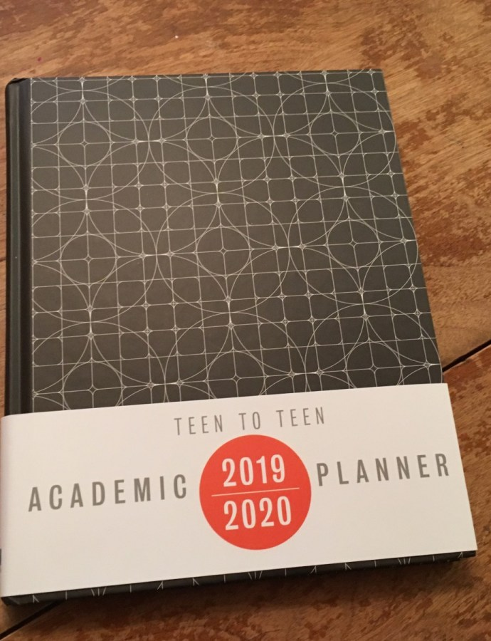 Getting Maddie organized with the Teen to Teen Academic Planner