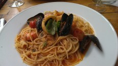 Spaghetti with mixed seafood (Osteria del Portico Ealing)