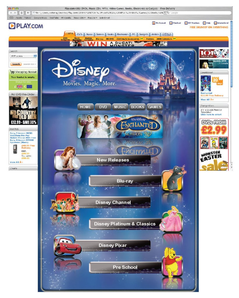 Disney for Play.com – Full page