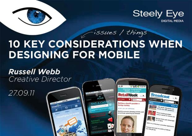 10 Considerations For Mobile Design