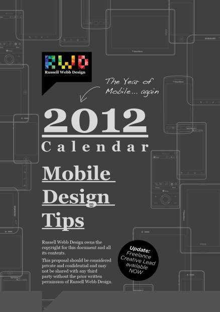 2012 Mobile Design Tips Calendar