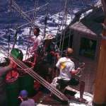 Me working to learn how to restore the seas 2002, under sail in the Pacific