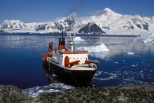 Alfred Wegner Institute and European Union Ocean Research Flagship Polarstern in Antartica