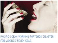 Woman eating shellfish