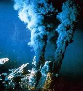 hydrothermal black smoker vent