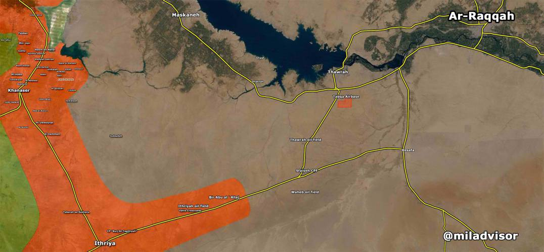Taqba offensive after ISIS counterattack