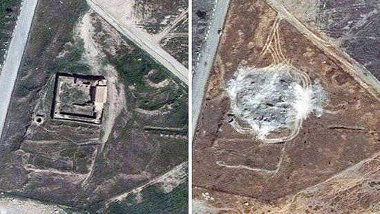 destroyed church in iraq