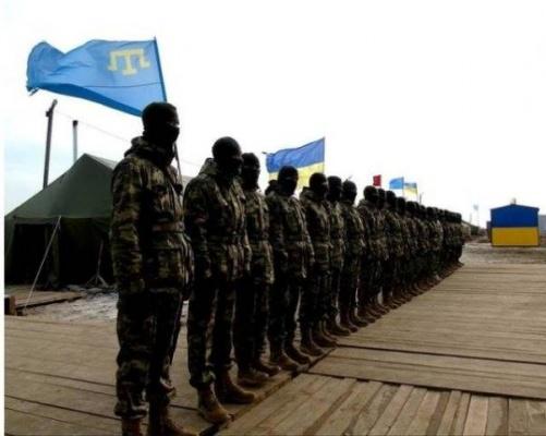 Татары в турецкой военной форме на погранпосту «Човгар»