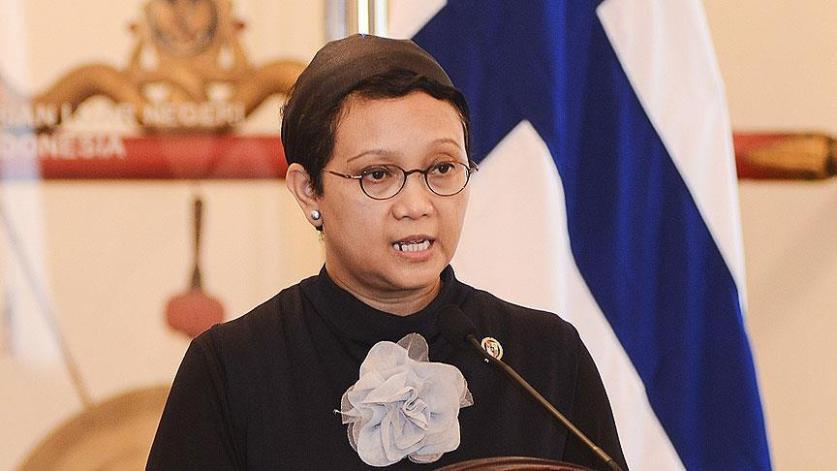 وزيرة خارجية إندونيسيا: علينا وقف ظلم إسرائيل بحق الشعب الفلسطيني