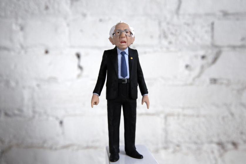 A Bernie Sanders action figure prototype is seen in a photo illustration taken in Brooklyn, New York February 25, 2016. REUTERS/Brendan McDermid