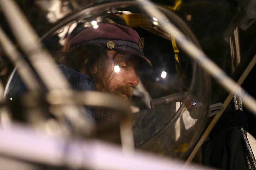 Fedor Konyukhov prepares for lift off