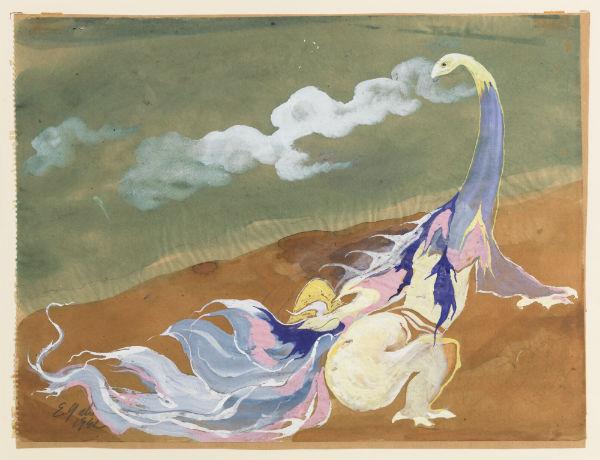 Eugene Gabritschevsky, Untitled, 1942, gouache and aquarel on chalk paper, 234 x 314 cm.