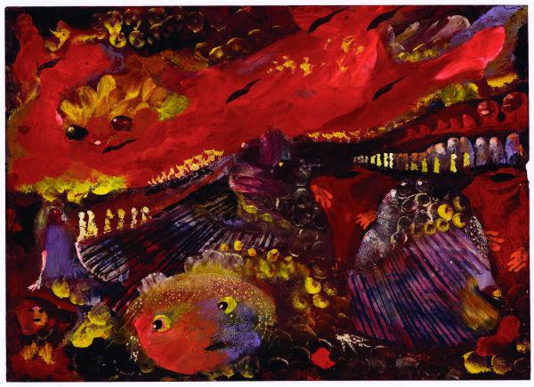 Eugene Gabritschevsky, Untitled, 1942, gouache on paper, 21 x 29.5 cm.