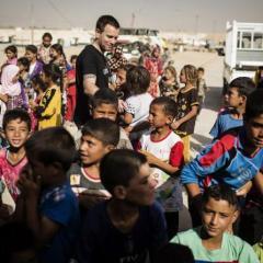 UNICEF Ambassador Ewan McGregor visits refugee and displaced children on Iraq frontline