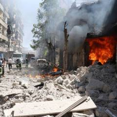 Four medics killed in strike on clinic near Syria's Aleppo