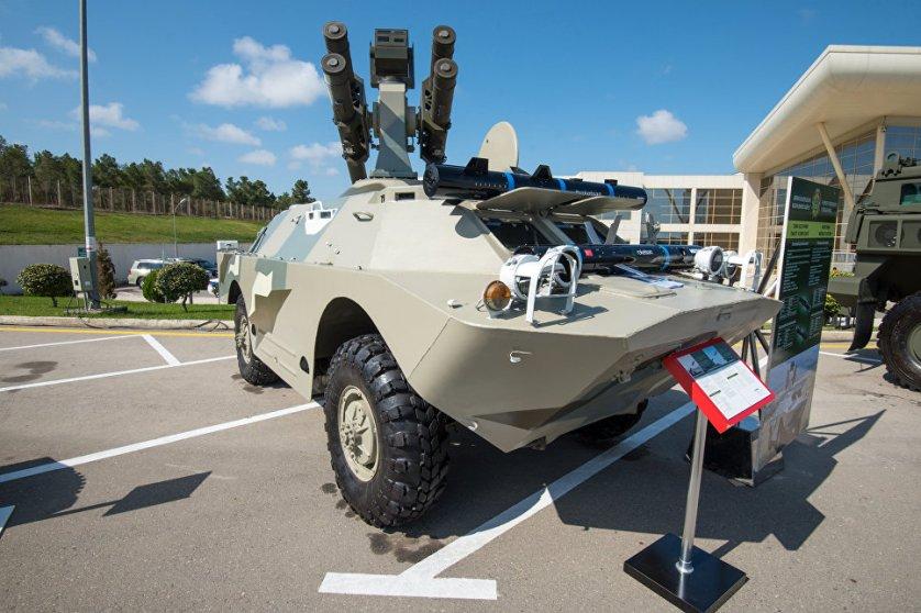 Турецкий противотанковый ракетный комплекс Roketsan на базе БТР, модификация произведена в Азербайджане.