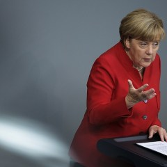 Merkel says hypothetical free trade zone with Russia would trigger less debate than TTIP