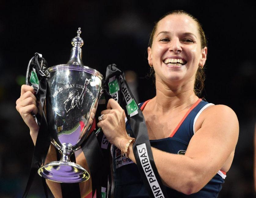 Cibulkova beats Kerber to win WTA Finals