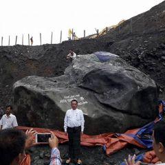 Myanmar giant jade stone 'too big to move'