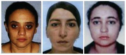 Фотографии женщин, готовивших теракт в Париже