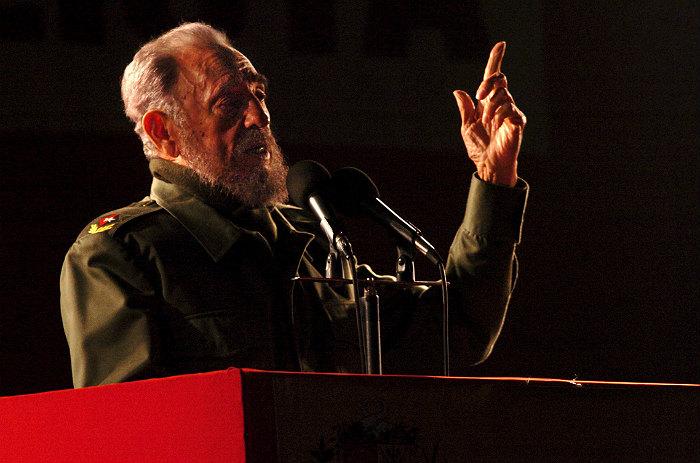 Фидель Кастро во время выступления в Аргентине в 2006 году