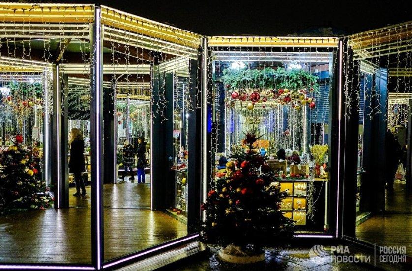 Рождественский базар на улице Петровка.