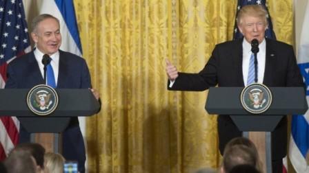 Премьер-министр Израиля Биньямин Нетаньяху и президент США Дональд Трамп.