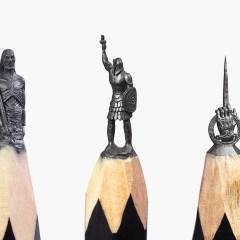 Житель Уфы вырезал на грифелях карандашей 30 фигур по мотивам «Игры престолов»