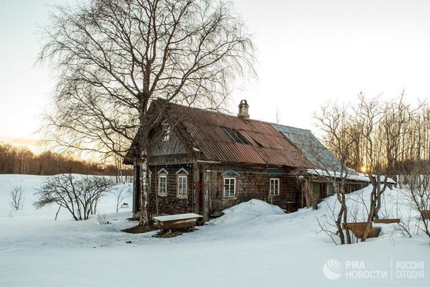 Жилой дом деревне Терусельга Пряжинского района Карелии.