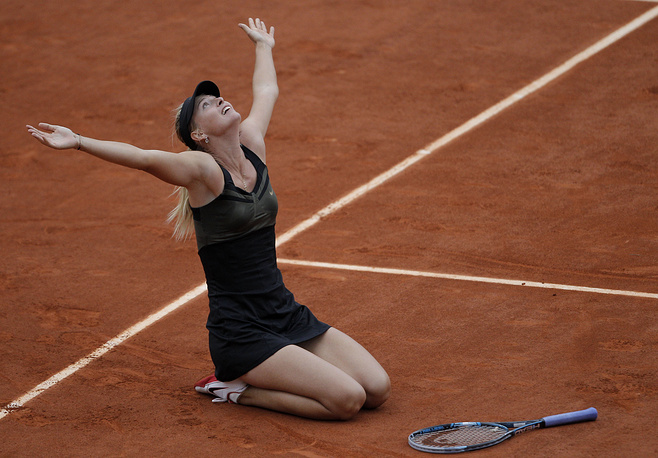 Russian tennis star Maria Sharapova celebrates her 30th birthday